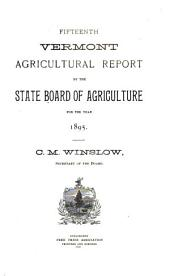 Vermont Agricultural Report ...: Volume 15, Part 1895