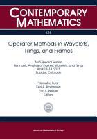 Operator Methods in Wavelets  Tilings  and Frames PDF