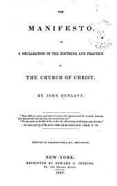 The Manifesto: Or A Declaration of the Doctine and Practice of the Church of Christ