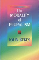The Morality of Pluralism PDF