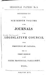 Journals Of The Legislative Council Of The Province Of Canada Book PDF