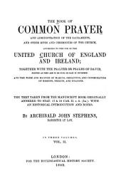 The Book of Common Prayer: Volume 2