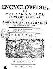 Encyclopédie, ou dictionnaire universel raisonné des connoissances humaines. Tome XXXIV. Plant---Pouz