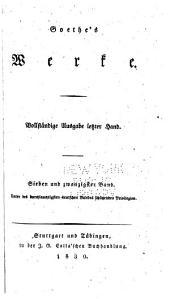 Goethes werke: Bände 27-28