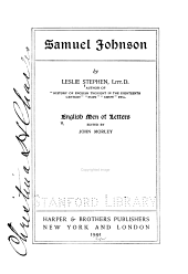 Samuel Johnson: Volume 20