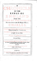 A Chronicle of the Kings of England  etc PDF