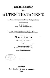 Handkommentar zum Alten Testament. In Verbindung mit anderen Fachgelehrten: Band 1,Ausgabe 1