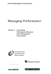 Financial Management Training Series  Managing performance PDF