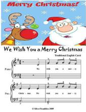 We Wish You a Merry Christmas - Easiest Piano Sheet Music Junior Edition