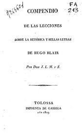 Compendio de las lecciones sobre la retórica y las Bellas Letras