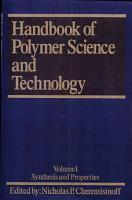 Handbook of Polymer Science and Technology PDF