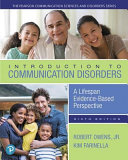 Introduction To Communication Disorders Book PDF