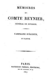 Campagne d'Égypte: Mémoires du Comte Reynier, Volume2