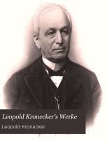Leopold Kronecker s werke PDF