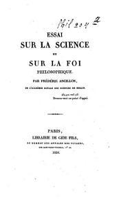 Essai sur la science et sur la foi philosophique