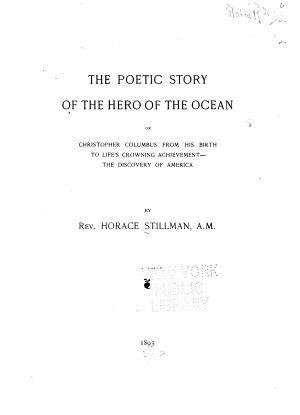 The Poetic Story of the Hero of the Ocean