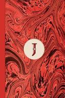 Monogram J Marble Notebook (Regency Red Edition)