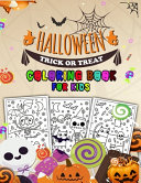 Halloween Trick Or Treat Coloring Book for Kids