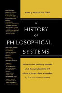 A History of Philosolphical Systems