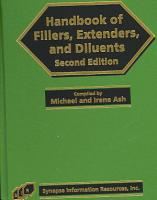 Handbook of Fillers  Extenders  and Diluents PDF