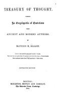 Treasury of Thought PDF