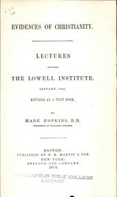 Lectures Before The Lowell Institute, January, 1844