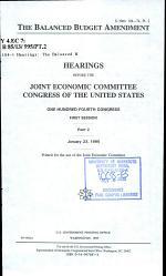 The Balanced Budget Amendment