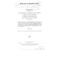 Importation of Prescription Drugs PDF