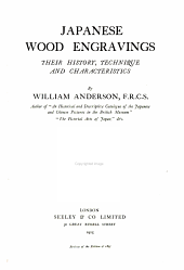 Japanese wood engravings: their history, technique, and characteristics