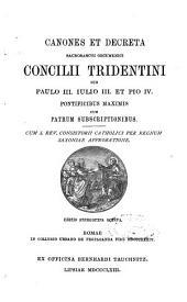 Canones et Decreta Sacrosancti oecumenici Concilii Tridentini
