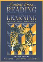 Content Area Reading and Learning PDF