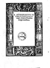 Athanasius in librum Psalmorum
