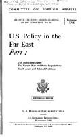 U S  Policy in the Far East PDF