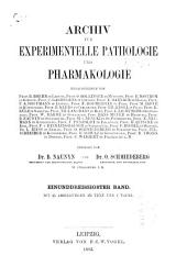 Naunyn-Schmiedeberg's Archives of Pharmacology: Volume 31