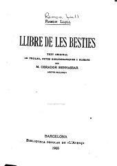 Llibre de les besties: text original