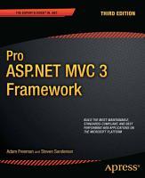 Pro ASP NET MVC 3 Framework PDF