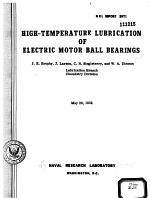 High-temperature Lubrication of Electric Motor Ball Bearings