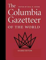 The Columbia Gazetteer of the World  A to G PDF