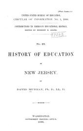 History of Education in New Jersey: Issues 1-3
