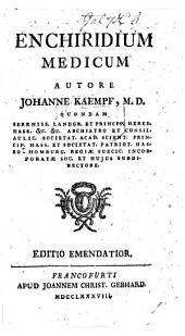 Enchiridium medicum ... Editio emendatior