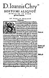 D. Ioannis Chrysostomi Episcopi Constantinopolitani in Sanctum Iesu Christi Evangelium secundum Ioannem c?mentarii ...