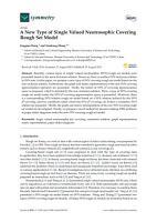 A New Type of Single Valued Neutrosophic Covering Rough Set Model PDF