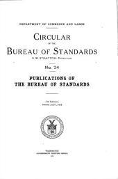 Publications of the bureau of standards