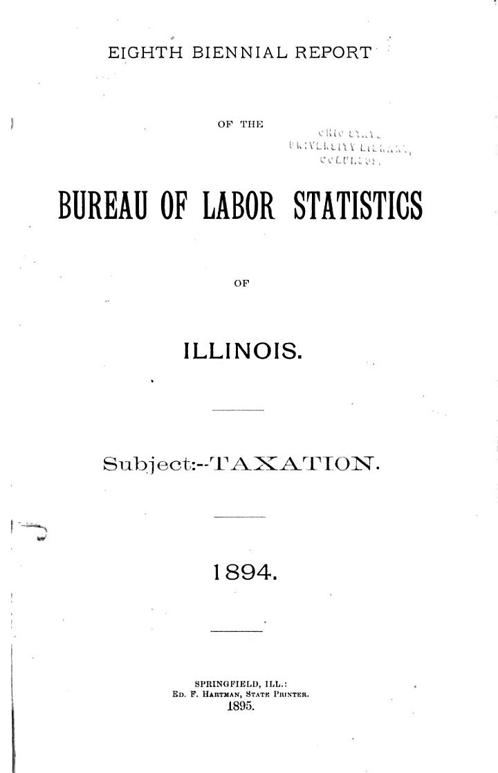 Biennial Report of the Bureau of Labor Statistics of Illinois