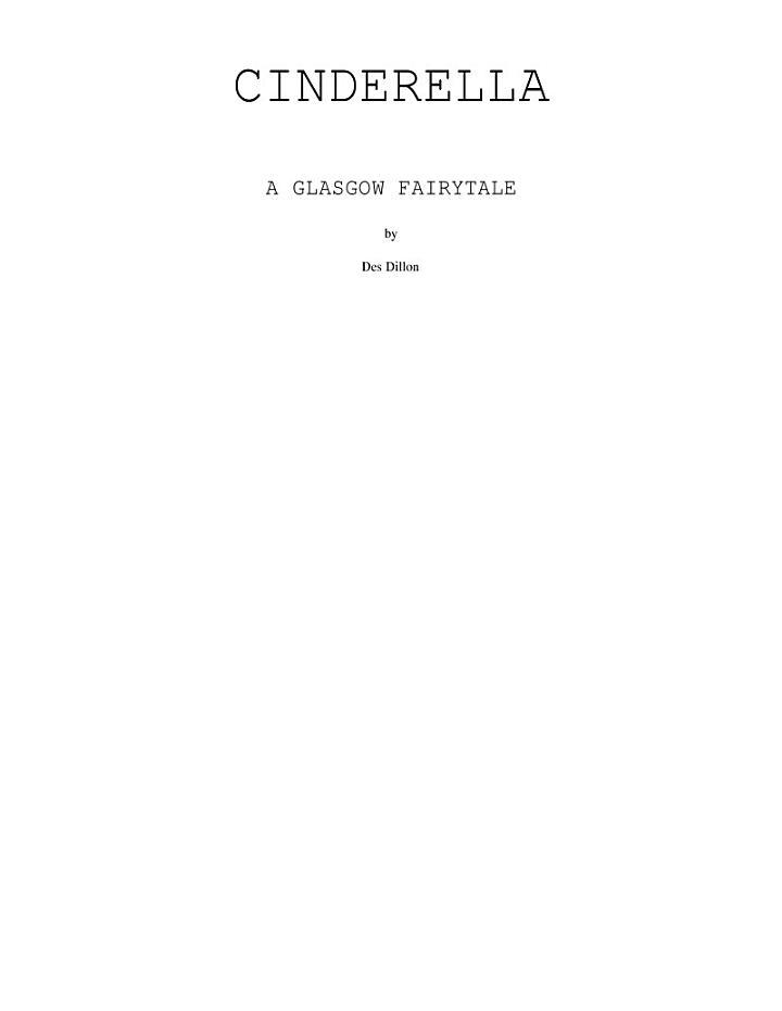 Cinderella a Glasgow Fairytale