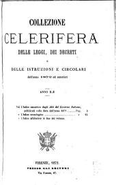 Collezione celerifera delle leggi, decreti, istruzioni e circolari
