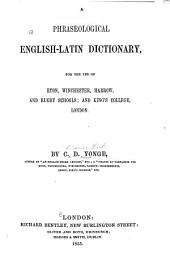 A Phraseological English-Latin Dictionary ...