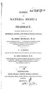 System of materia medica and pharmacy