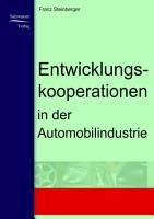 Entwicklungskooperationen in der Automobilindustrie PDF