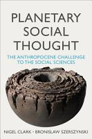 Planetary Social Thought PDF